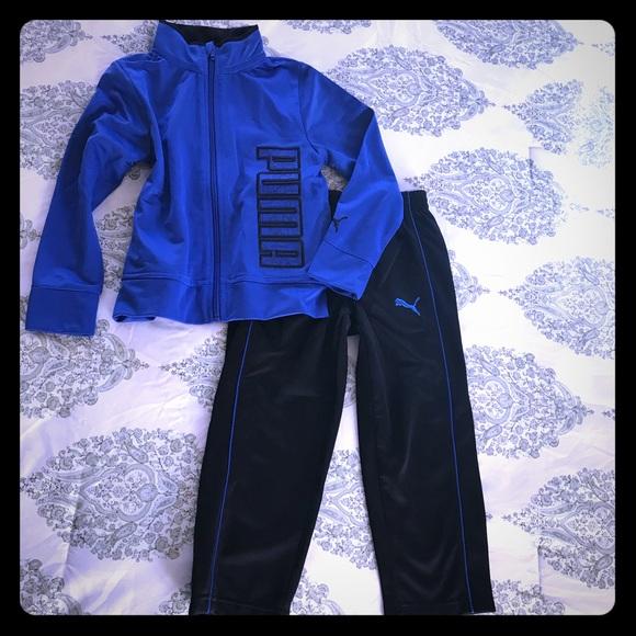 c9b506da80b4 Puma Blue Black Track Suit 4 XS Boy Jacket Pants. M 5a8a6ce984b5ceccb9516c1c